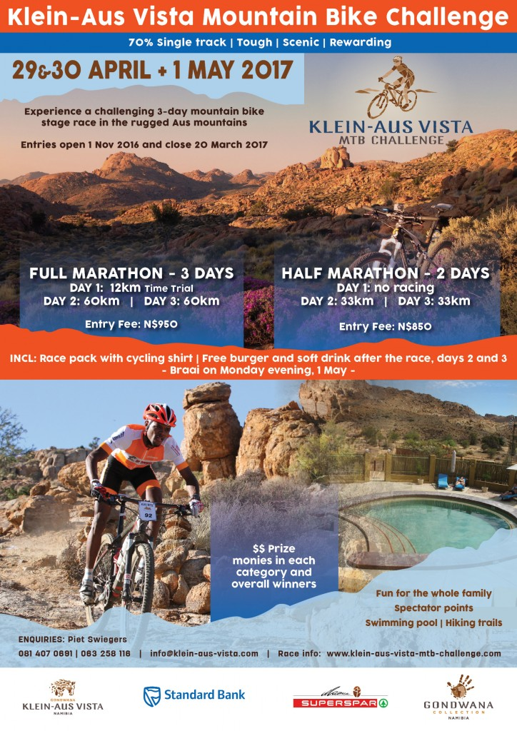 Klein Aus Vista Mountain Bike challenge 2017