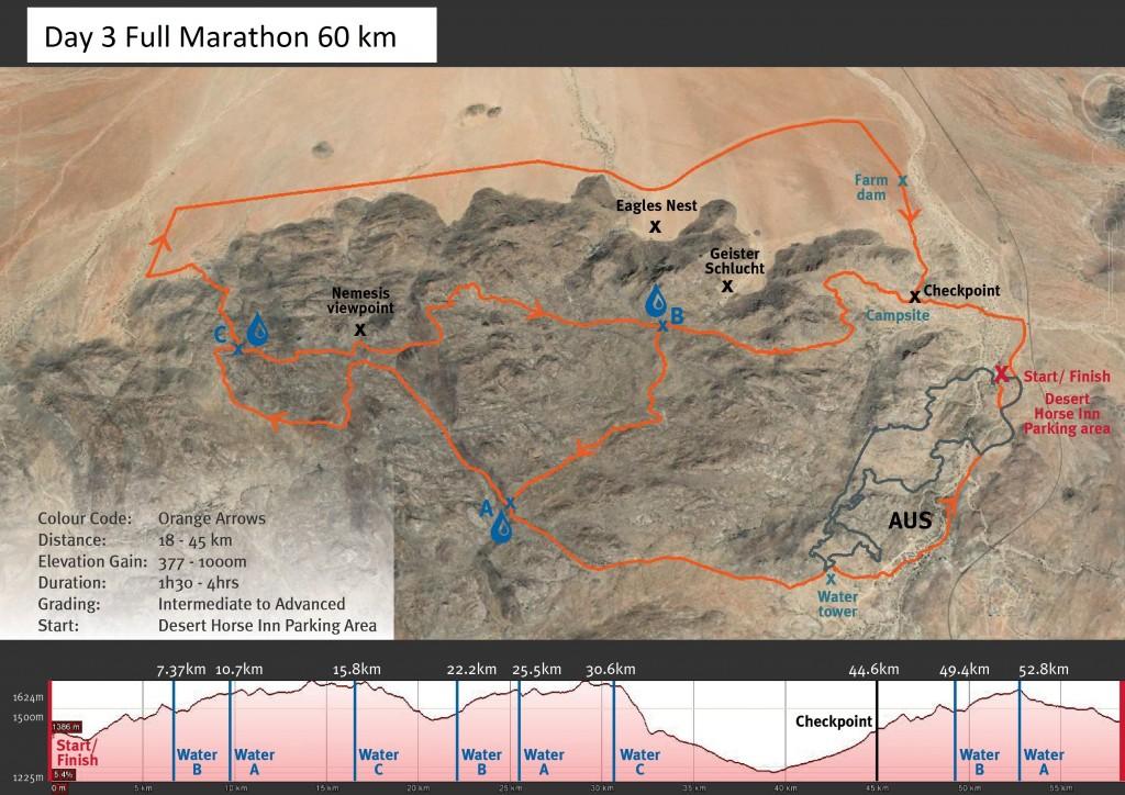 KAV MTB- Stage 2 Orange Arrow Route Map